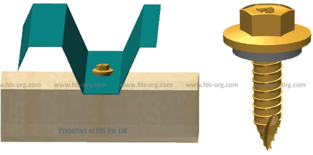 ROOF-PLUS Hex Roofing Screw Timber