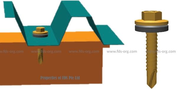 ROOF-PLUS Hex Roofing Screw-short